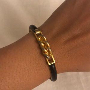 Vita Fede Black Snakeskin Gold Bracelet